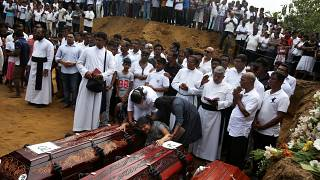 Families of Sri Lanka blast victims gather for memorial in Negombo