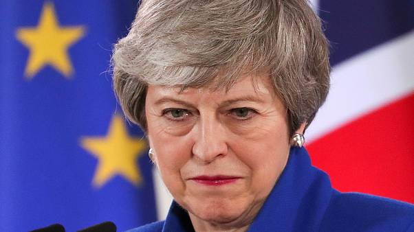 FILE PHOTO: Theresa May holds news conference after EU summit, April 2019