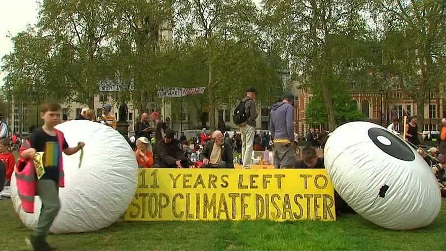 تظاهرات حامیان محیط زیست در لندن