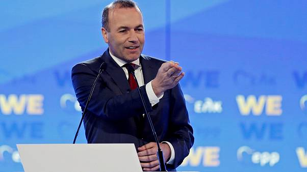 Manfred Weber in Athens, Greece on April 23, 2019.
