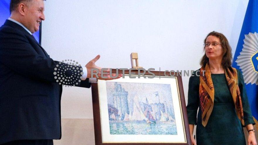 Présentation de la toile retrouvée de Paul en Signac en Ukraine