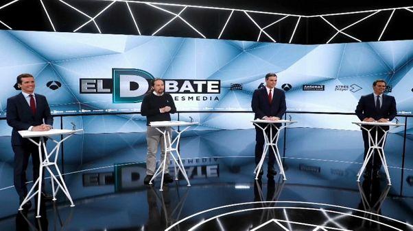 Spagna, nuovo confronto TV tra quattro candidati premier