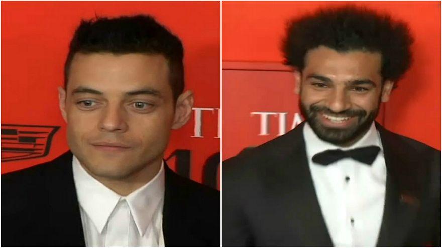 شاهد: صلاح ورامي مالك على سجادة التايم الحمراء ضمن أكثر 100 شخصية مؤثرة بالعالم