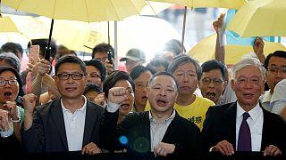رهبران جنبش «اشغال مرکز» هنگ کنگ به زندان محکوم شدند