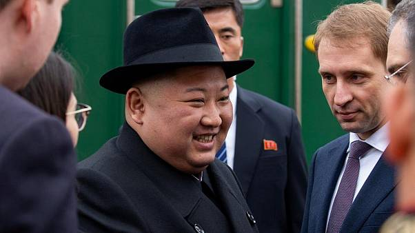 Kim Jong Un Greeted With Bread And Flowers As He Arrives In Russia For Putin Meeting Euronews