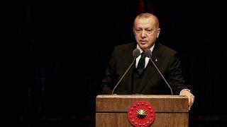Erdoğan: Türkiye'ye demokrasi dersi vermeye kalkışanların hepsi kanlı bir geçmişe sahip