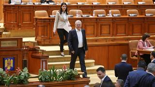 Voting session on the changes to the criminal codes in Romania's parliament