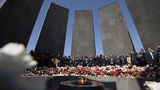 Armenia marks killings anniversary as Erdogan rejects genocide claim