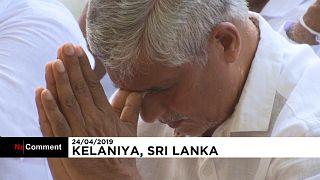 Sri Lanka'da hayatını kaybedenler için Budistlerden dua töreni