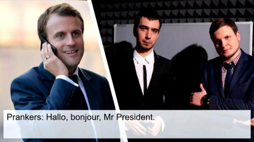Emmanuel Macron piégé par un canular téléphonique?