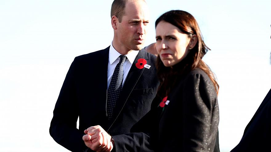 Prince William attends New Zealand Anzac Day service amid heightened security