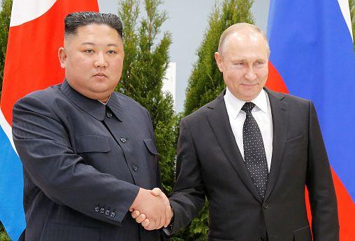 Vladimir Putin and Kim Jong Un meet for first ever summit