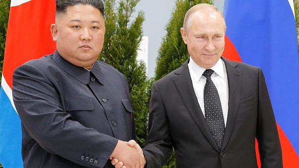 Vladimir Putin and Kim Jong Un meet for first ever summit
