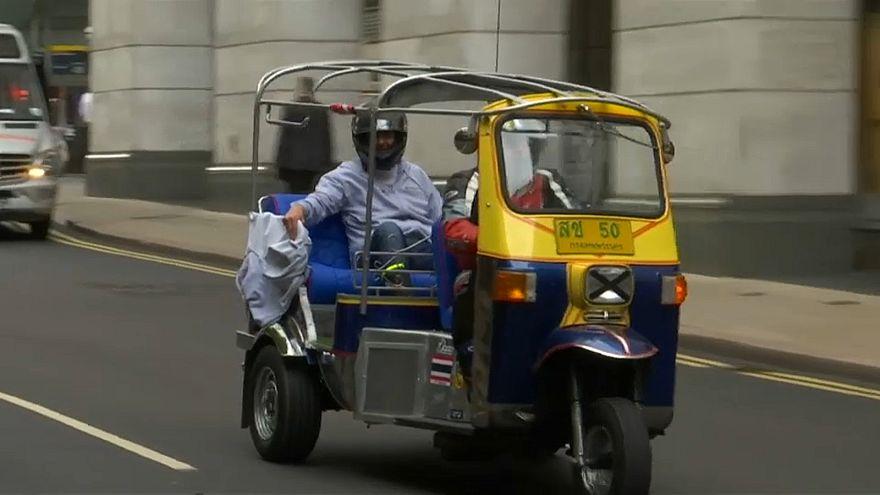 عربة ذات الثلاث عجلات اشتراها إيفرارد من موقع إي-باي الإلكتروني للمزادات