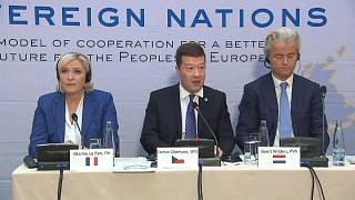 Europe's far-right leaders plead for unity in Prague rally ahead of EU elections