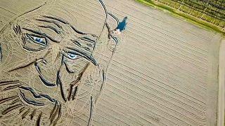 Watch: Leonardo da Vinci renaissance as painter's portrait ploughed in field