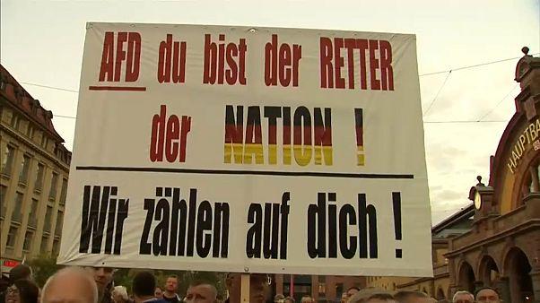 """Poster: """"AfD du bist der Retter der Nation! Wir zählen auf dich!"""""""