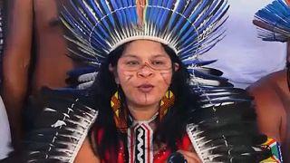 Acampada de indígenas en Brasilia para protestar contra Bolsonaro