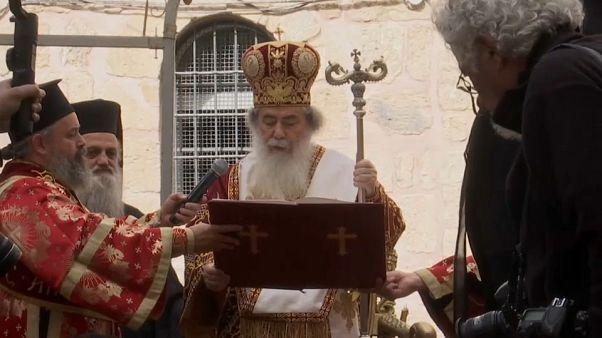 شاهد: طقس غسل الأرجل في خميس الأسرار في القدس