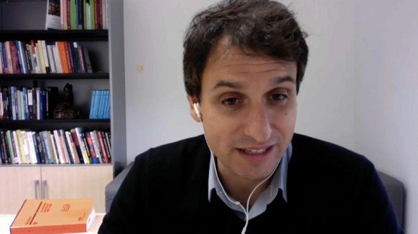El politólogo Lluís Orriols, en una entrevista con Euronews vía Skype