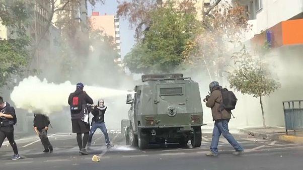 Santiago del Cile: protesta degli studenti