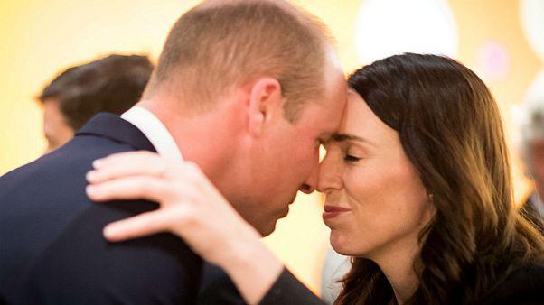 خوشآمدگویی مائوری نخست وزیر نیوزیلند به شاهزاده ویلیام