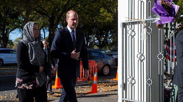Prens William, Yeni Zelanda'da terör saldırısına uğrayan camiyi ziyaret etti