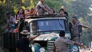 سجناء تم إطلاق سراحهم في اليوم الأول من السنة الجديدة في ميانمار