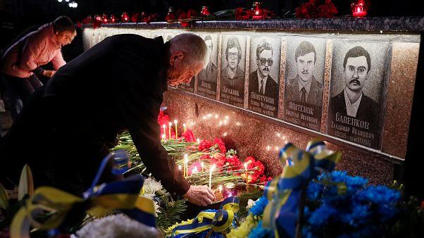 Çernobil faciasının 33. yılında kurbanlar anılıyor