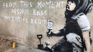 New Banksy appears overnight as climate protests come to a close in London