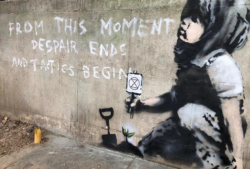 Suspected Banksy - From this moment, despair ends and tactics begin