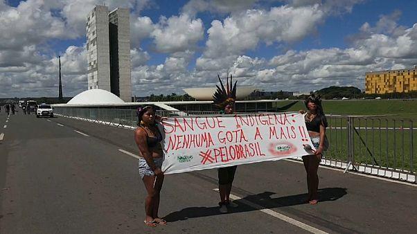 Indigenous Brazilians protest against President Bolsonaro's land reforms