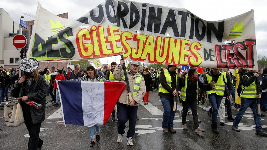 Demonstration in Strasbourg, France, 27 April 2019