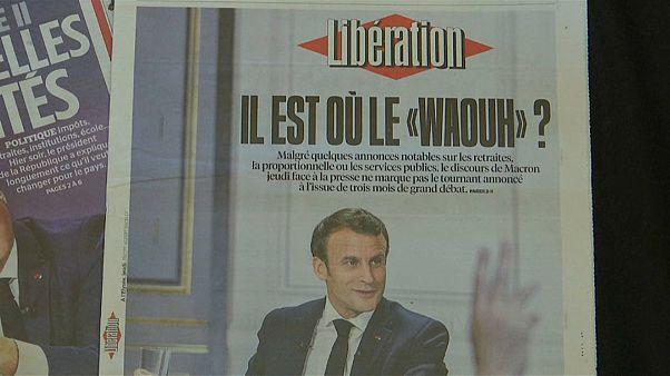 Los chalecos amarillos responden a Macron con más protestas