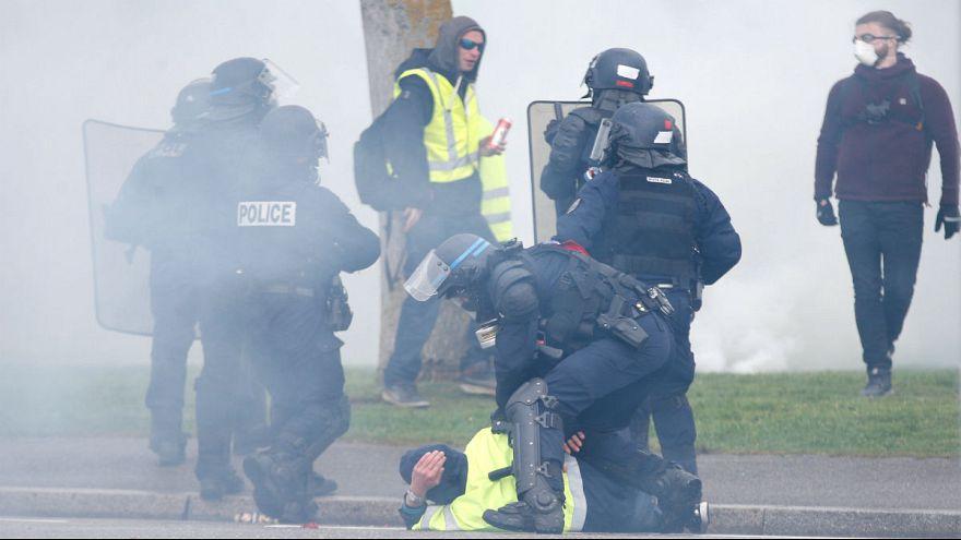 جنبش جلیقهزردها؛ تنش در اطراف مقر پارلمان اروپا در استراسبورگ