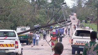 دمار خلفه الإعصار كينيث في موزامبيق يوم الجمعة
