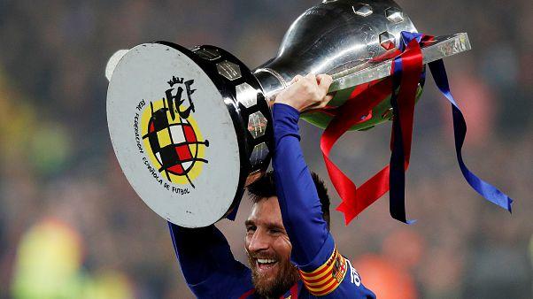 Messi y el F.C. Barcelona ganan la liga española