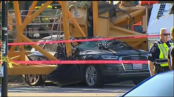 Une grue s'effondre à Seattle : quatre morts