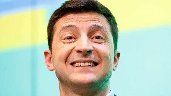 الرئيس الأوكراني المنتخب فولوديمير زيلينسكي