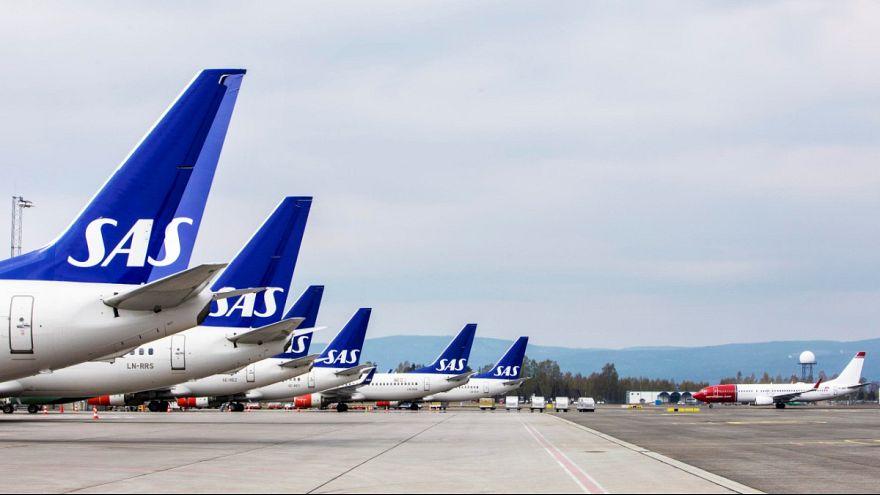 Les pilotes toujours en grève chez SAS : plus de 1.200 vols annulés lundi et mardi