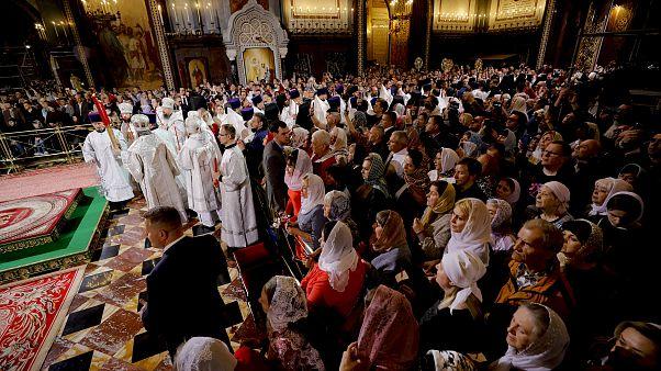 Igreja ortodoxa celebra a Páscoa por todo o mundo