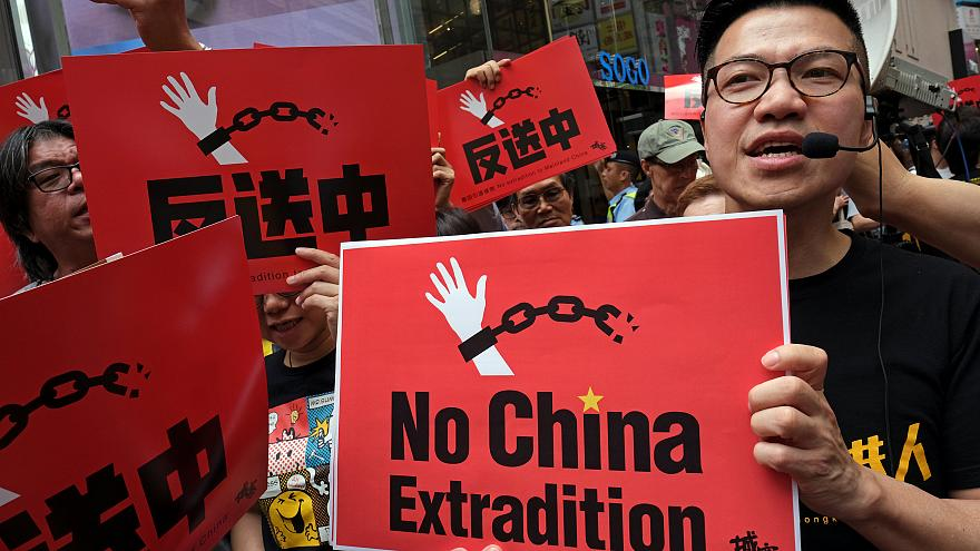 Hong Kong protest demanding end to proposed extradition bill with China