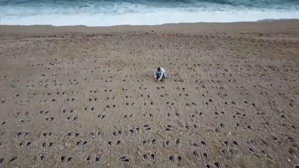 Slapton Sands: Αποτυπώματα στην άμμο στην μνήμη 749 στρατιωτών