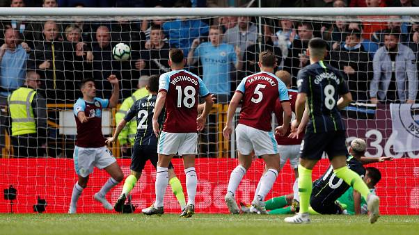 """Premier League: una rete di Aguero con la """"goal technology"""" regala la vittoria al City"""