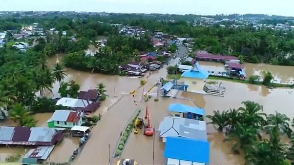 Inundações mortais em Sumatra
