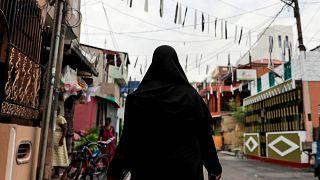 A Muslim woman wearing a hijab in Colombo, Sri Lanka, April 29, 2019.