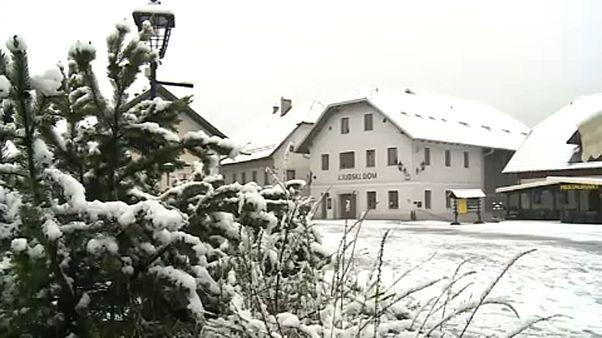 Primavera blanca en Eslovenia