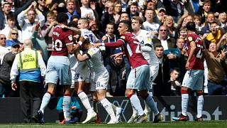The controversial Leeds goal sparked clashes on the pitch.