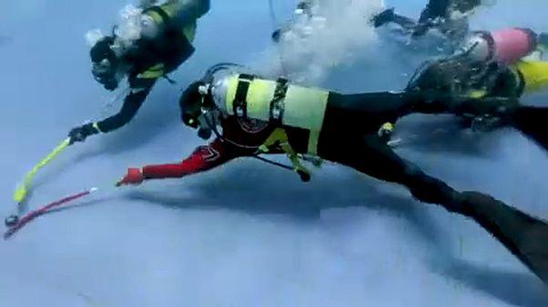 برگزاری مسابقات هاکی زیر آب در روسیه