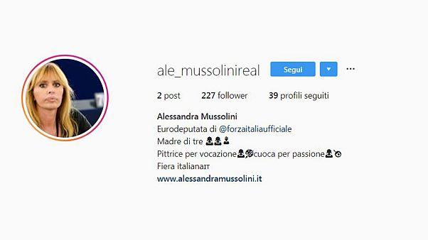 Posta le foto della tomba del nonno, Instagram chiude il profilo della Mussolini
